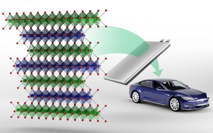 Oak Ridge National Laboratory researchers have developed a new class of cobalt-free cathodes called NFA that are being investigated for making lithium-ion batteries for electric vehicles. Credit: Andy Sproles/ORNL, U.S. Dept. of Energy