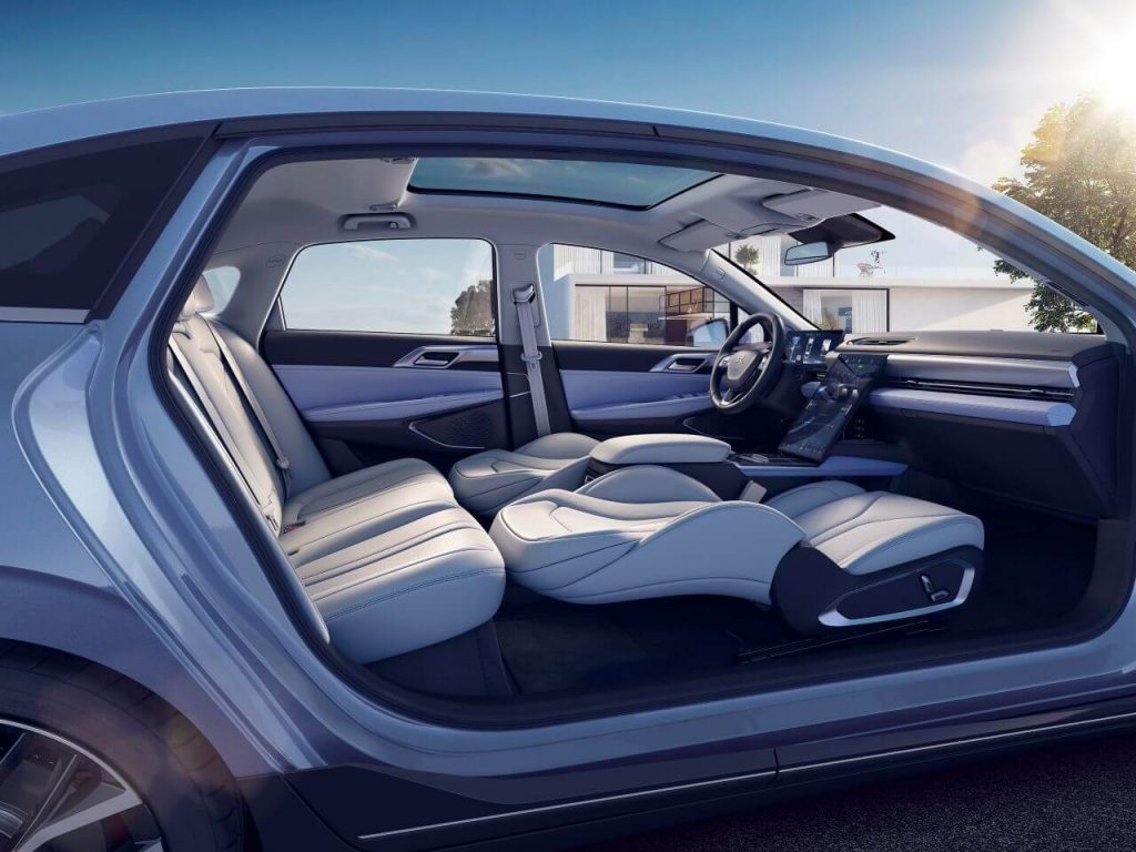 XPeng P5 interior - Photo Business Wire